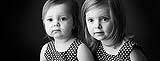 Cute little sisters black and white portrait by Cormac Byrne Photography