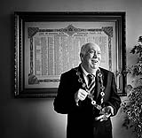 Former Mayor of Limerick Jim Long posing in office for Faces of Limerick by Cormac Byrne.