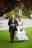 The bride and her father make their way to the wedding ceremony at Springfield Hall, Broadford, Co. Limerick