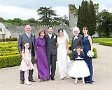 Family portrait at a wedding on the beautiful location of Castlemartyr, Co. Cork, Ireland.