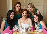 Bridesmaids at a wedding in the Castle Oaks House Hotel, Co. Limerick.