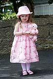 Cute little girl with teddy at wedding in Adare, Co. Limerick, Ireland.