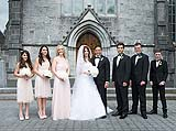 Bridal party at Adare Church Adare Co. Limerick, Ireland