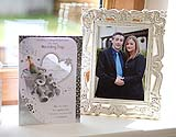 Picture frame of engaged couple on their wedding day, Co. Cork, Ireland