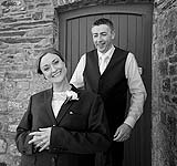 Bride and Groom having some fun at Charles Fort after their wedding at Douglas Church, Co. Cork, before going to Acton's Kinsale, for their reception