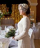 A portrait of a beautiful bride at Ballygarry House, Tralee, Co. Kerry.