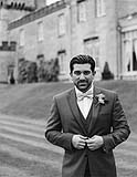 Groom at Dromoland Castle, Co. Clare Ireland on his way to his wedding, at the Cliffs of Moher, Co. Clare, Ireland