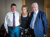 Bride to be, with father and grandfather before her wedding, at AnnaCarriga Killaloe, Co. Clare, Ireland.