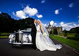 Wedding portrait of bride and groom at Adare Manor, Adare, Co. Limerick. Ireland