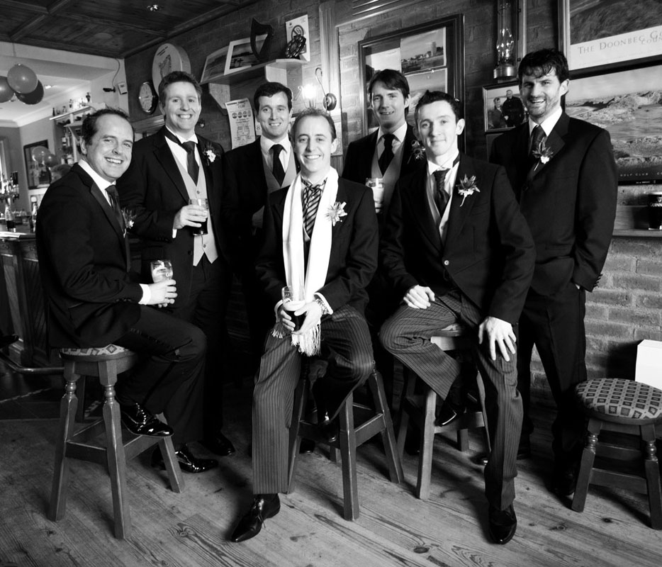 Cormac Byrne Photography's  Wedding Images taken in Doonbeg Lodge in Co.Clare: Groom & Groomsmen