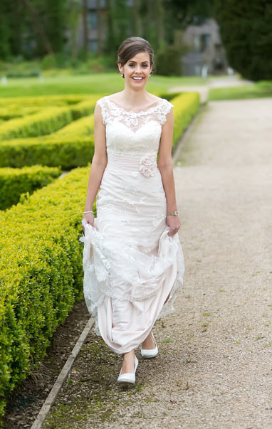 Stunning bride on her wedding day at Castlemartyr Resort, Co. Cork, Ireland 2014