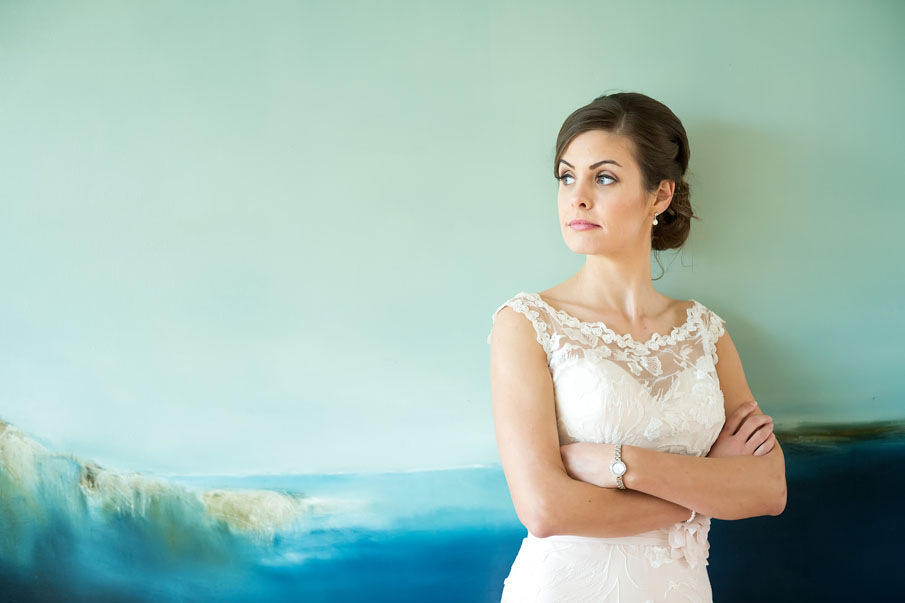 Beautiful bride on location at Castlemartyr resort, Co. Cork, Ireland