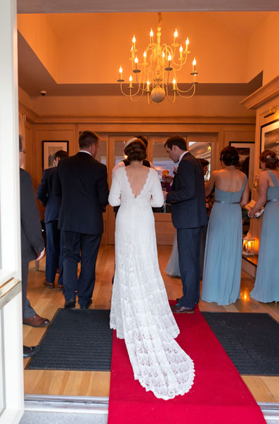 Wedding couple at their wedding reception at Ballygarry House, Tralee, Co. Kerry.