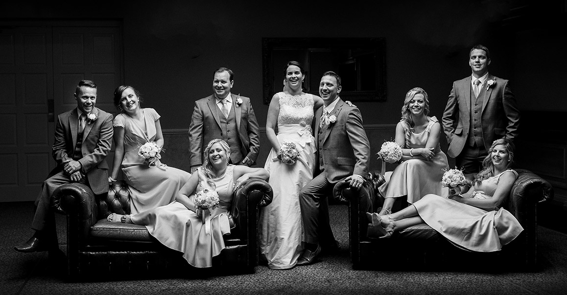 Bridal party photographed at the Castleoaks House Hotel In Castleconnell, Co. Limerick, Ireland.