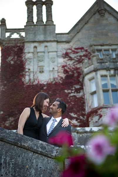 Julia and Jiss, very much in love after the surprise wedding proposal at Adare Manor, Adare, Co. Limerick