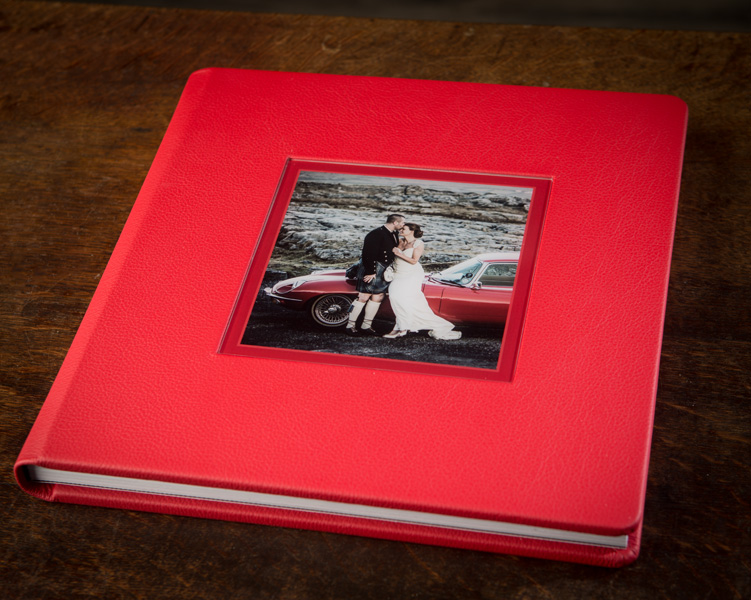 Very different wedding book from a wedding photographed in the Burren, Co. Clare, Ireland.