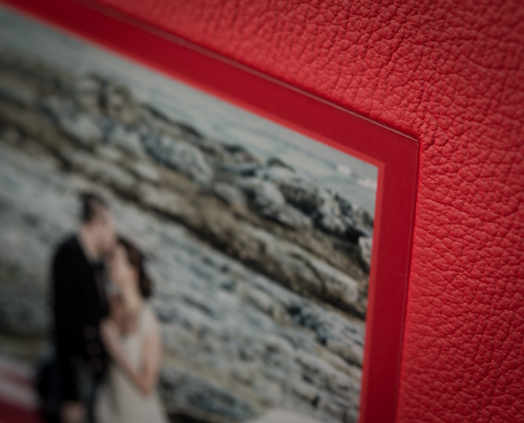 Beautiful wedding album of wedding couple on their wedding day in the Burren Co. Clare, Ireland.