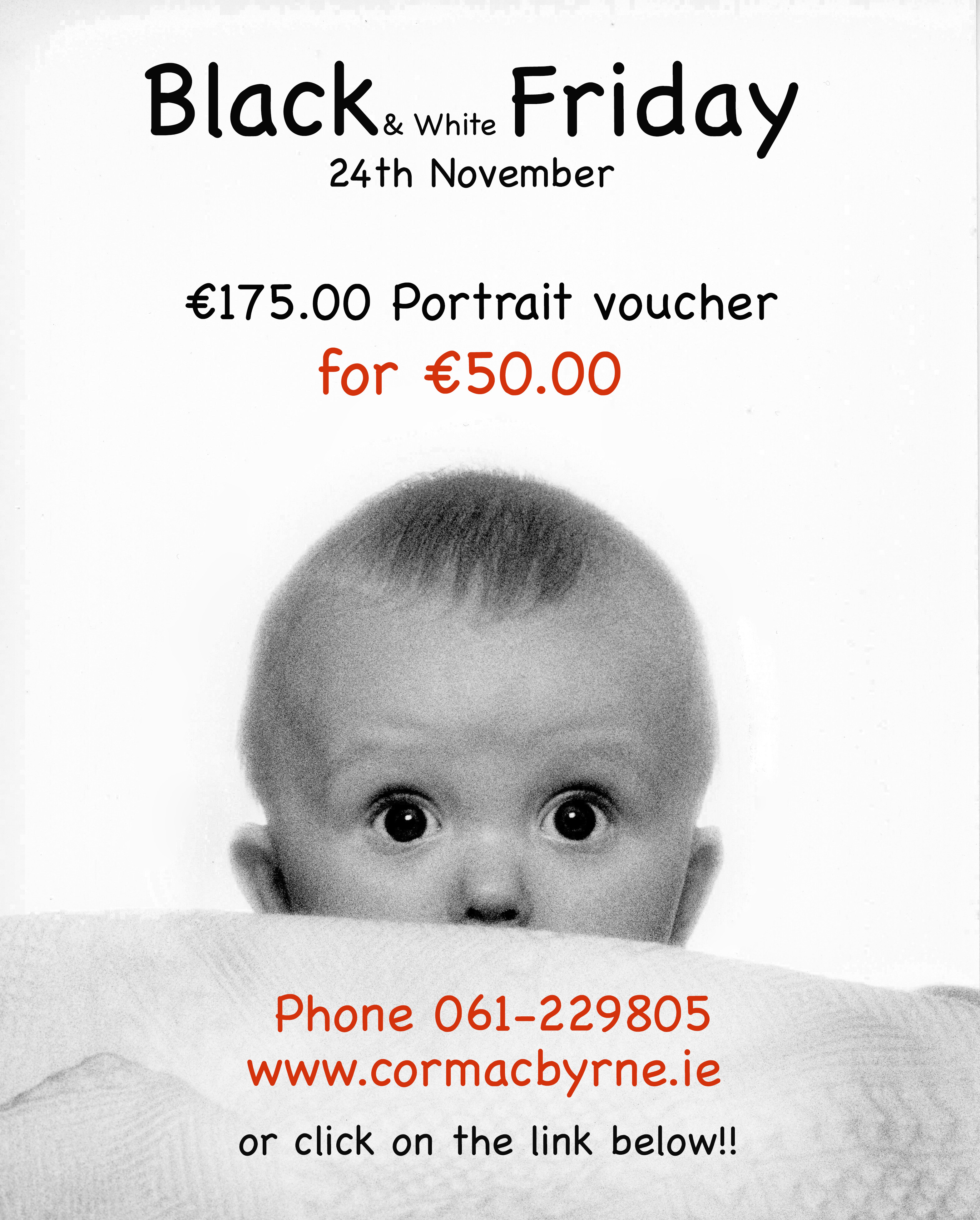 Black & White Friday gift voucher offer