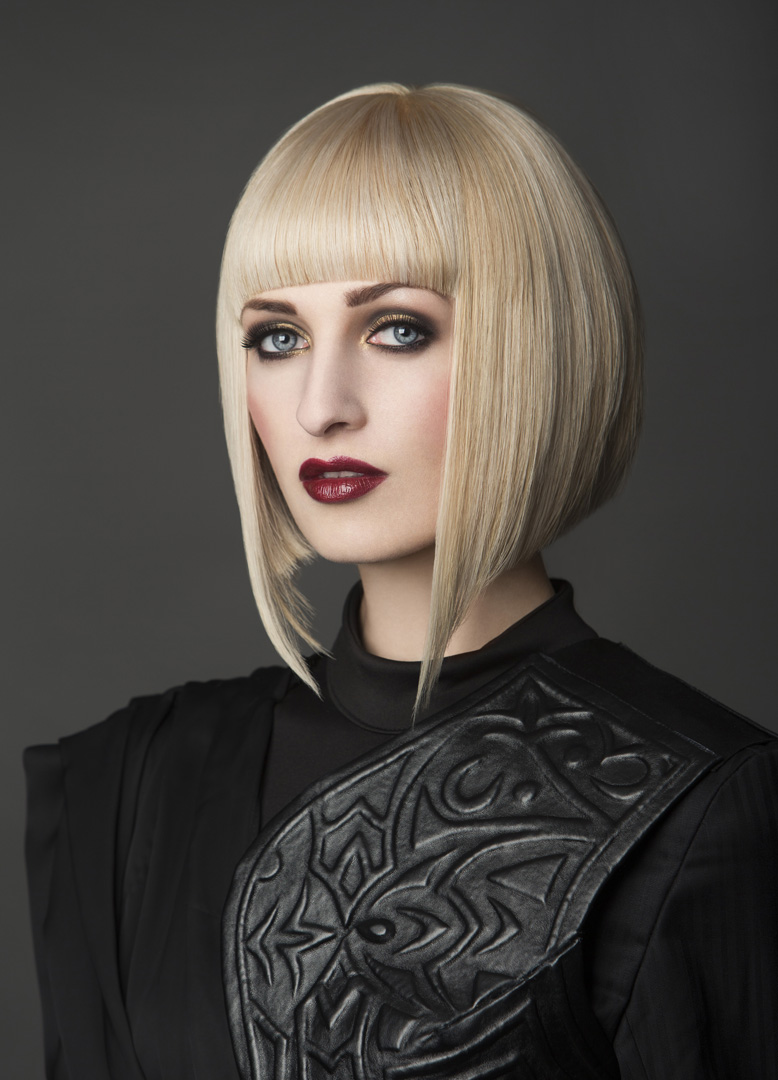 Zavinta Karsokaite fashion model from Profile Models London, Shot for Hugh Campbel Hair group.