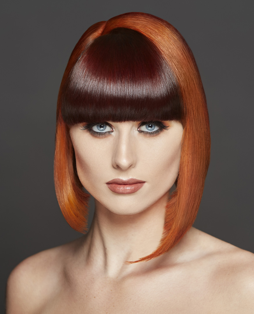 Model Kerri Sheey photographed for the Hugh Campbell Hair Group.  Hair by Sonia Danaher.